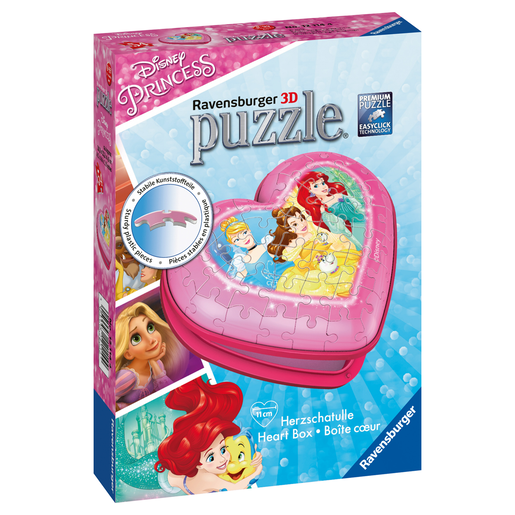 Ravensburger Disney Princess Heart Shaped 3D Puzzle - 54pcs.