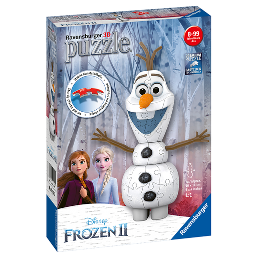 Ravensburger - Disney Frozen 2: 3D Olaf Shaped 54pc Puzzle