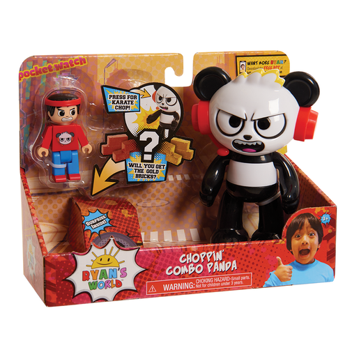 Ryan's World Ryan Action Figure - Choppin' Combo Panda