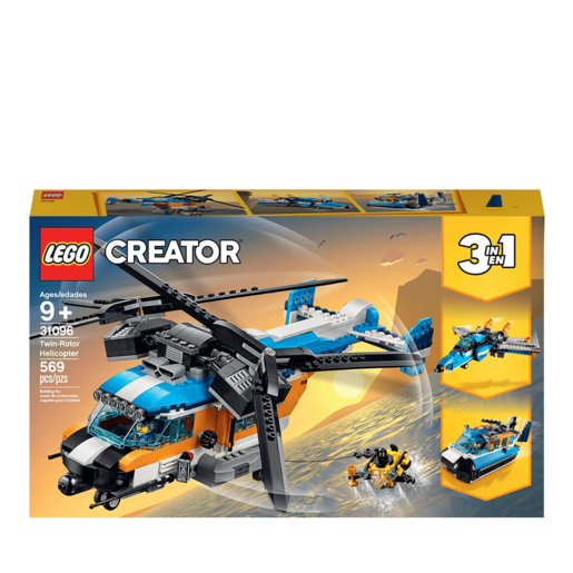 LEGO Creator 3in1 Twin Rotor Helicopter - 31096 from TheToyShop
