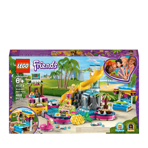 LEGO Friends Andrea's Pool Party - 41374 from TheToyShop
