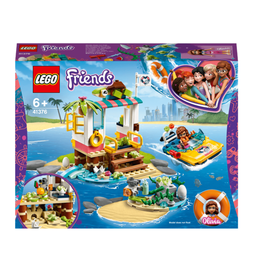 LEGO Friends Turtles Rescue Mission Boat - 41376