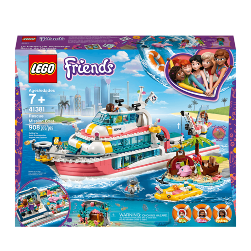 LEGO Friends Rescue Mission Boat - 41381 from TheToyShop