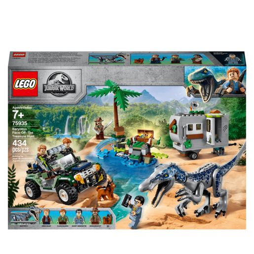 LEGO Jurassic World Baryonyx Face-Off: The Treasure Hunt - 75935
