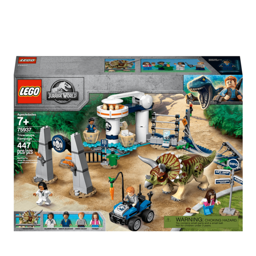LEGO Jurassic World Triceratops Rampage - 75937