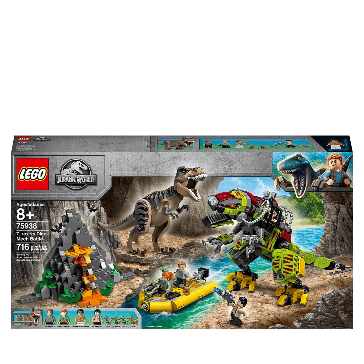World Battle Jurassic Vs Lego 75938 Dino TRex Mech dtrhQCs