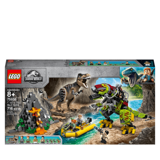 LEGO Jurassic World T. rex vs Dino-Mech Battle - 75938