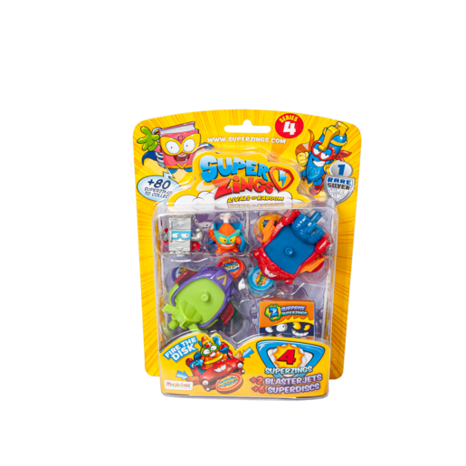 Super Zings Series 4 Rivals of Kaboom Blister - 4 Pack