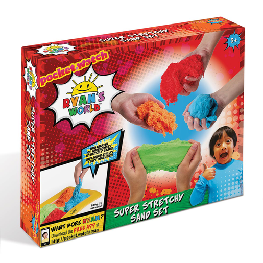 Ryan's World Super Stretchy Sand Set