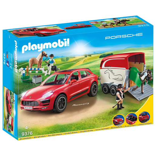 Playmobil 9376 Porsche Macan GTS with Horse Trailer and Retractable Winch