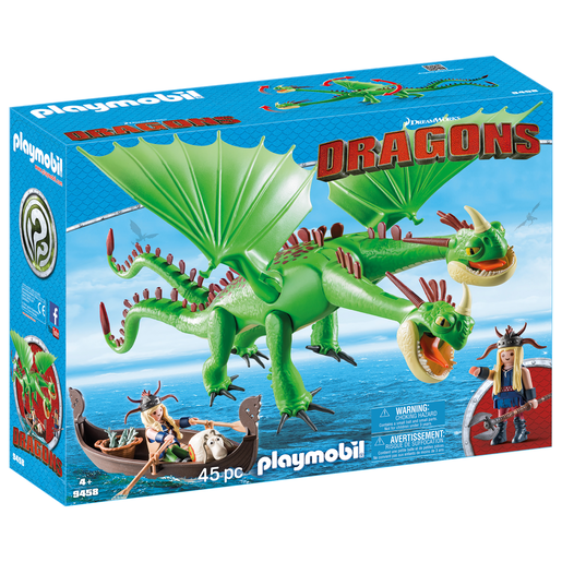 Playmobil: DreamWorks Dragons 9458 Ruffnut And Tuffnut With Barf And Belch