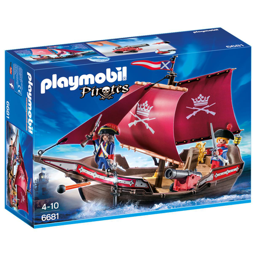 Playmobil 6681 Pirates Floating Soldiers Patrol Boat