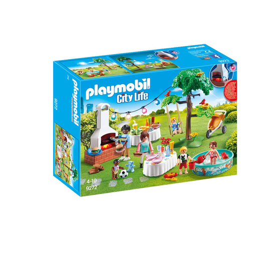 Playmobil 9272 City Life Housewarming Party with Illuminating Bunting and BBQ