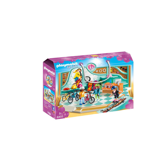 Playmobil 9402 City Life Bike & Skate Shop with Ramp