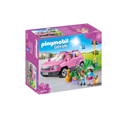 Playmobil 9404 City Life Family Car with Parking Space and Removeable Windshield