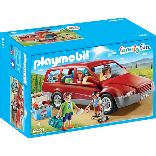 Playmobil 9421 Family Fun Family Car with Trailer Hitch