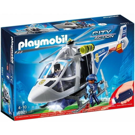 Playmobil 6921 City Action Police Helicopter with LED Searchlight