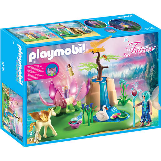 Playmobil 9135 Fairies Mystical Fairy Glen with Glowing Flower Throne