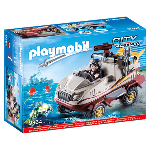 Playmobil 9364 City Action Amphibious Truck with Underwater Motor and Functioning Cannon