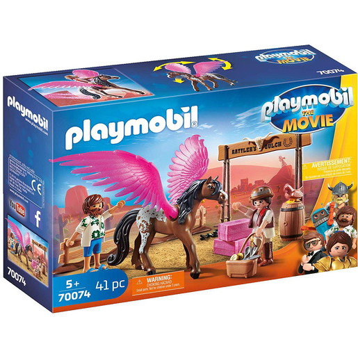 Playmobil 70074 Movie Marla And Del With Flying Horse