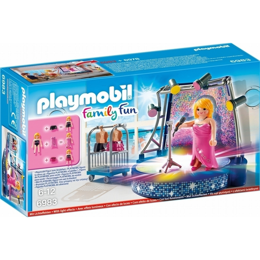 Playmobil 6983 Family Fun Singer and Stage with LED Lighting Effects