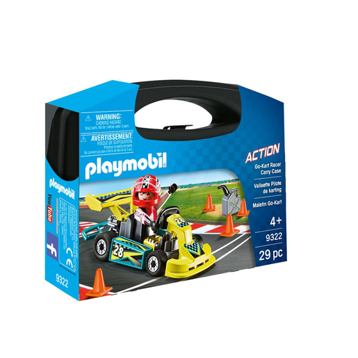 Playmobil 9322 Action Go-Kart Racer Carry Case