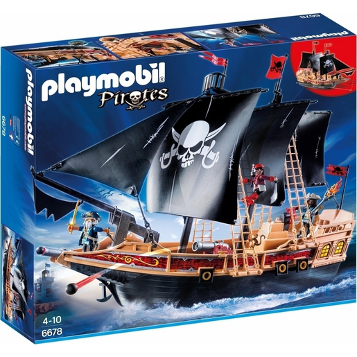 Playmobil 6678 Floating Pirate Raiders Ship With Cannons