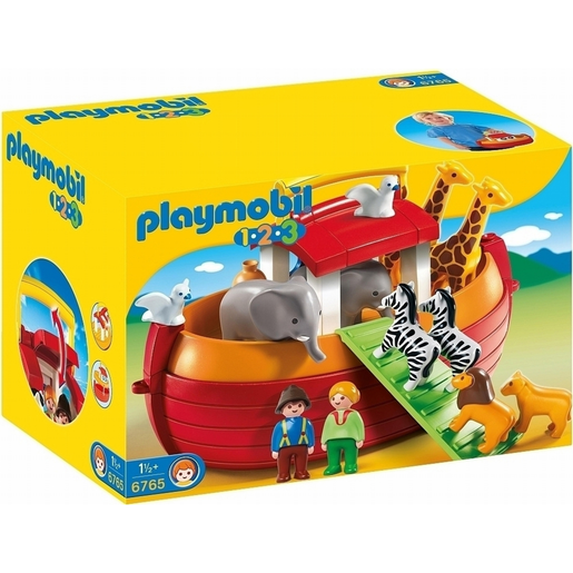 Playmobil 6765 1.2.3 Floating Take Along Noah's Ark