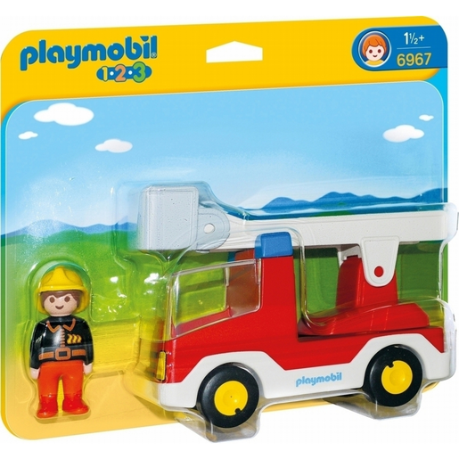 Playmobil 6967 1.2.3 Ladder Unit Fire Truck