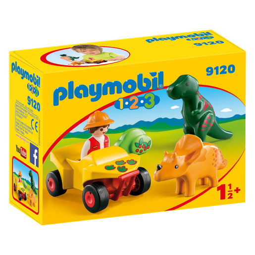 Playmobil 9120 1.2.3 Explorer with Dinos