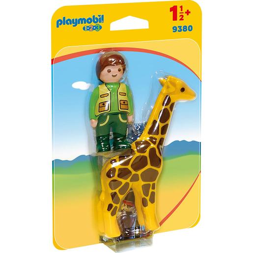 Playmobil 9380 1.2.3 Zookeeper Giraffe