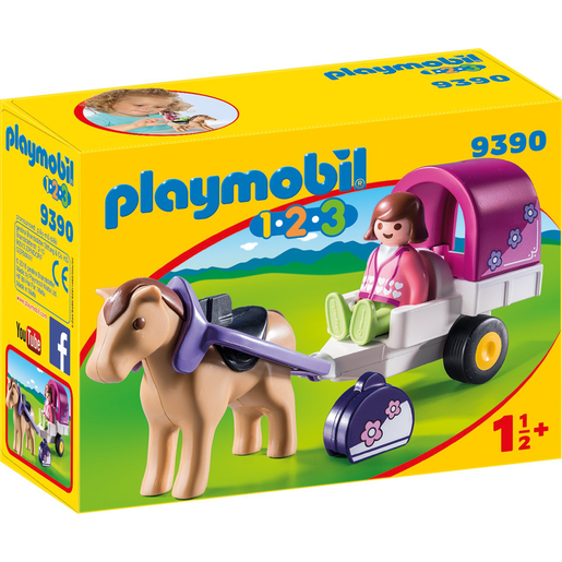 Playmobil 9390 1.2.3 Horse Drawn Carriage