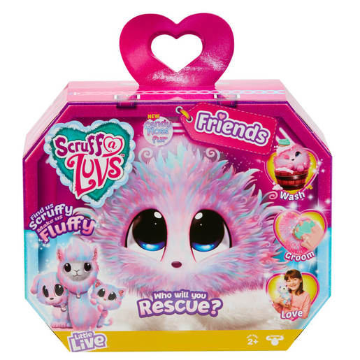 Scruff-a-Luvs Rescue Pet – Candy Floss (Styles Vary)