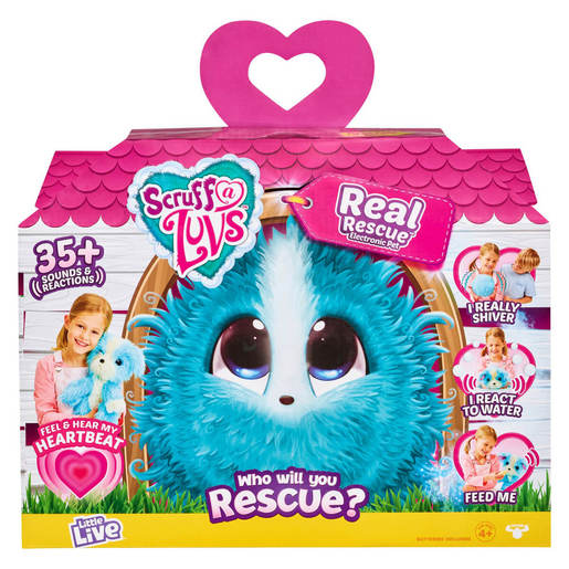 Scruff-a-Luvs Interactive Rescue Pet – My Real Rescue (Styles Vary)