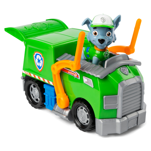 Paw Patrol Figure and Vehicle - Rocky and Recycle Truck