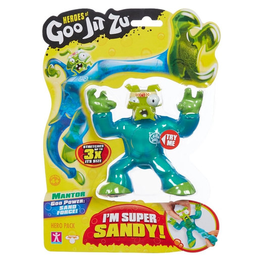 Heroes of Goo Jit Zu Figure - Mantor Sand Force