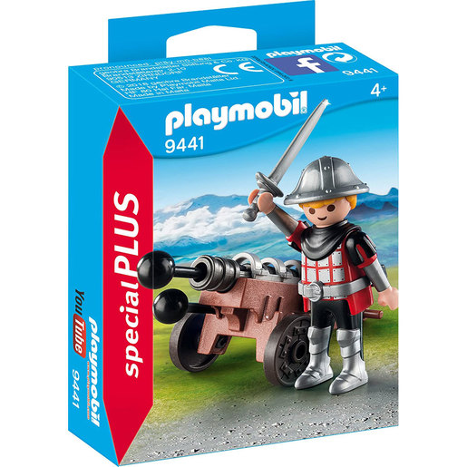 Playmobil 9441 Special Plus Knight and Cannon Figure