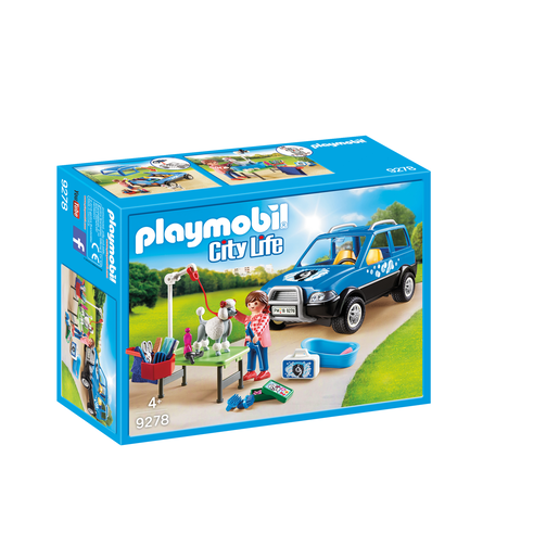 Playmobil 9278 City Life Mobile Pet Groomer With Removeable Roof