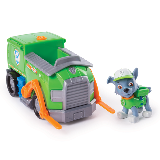 Paw Patrol Rocky's Transforming Recycle Truck with Pop-out Tools and Moving Forklift