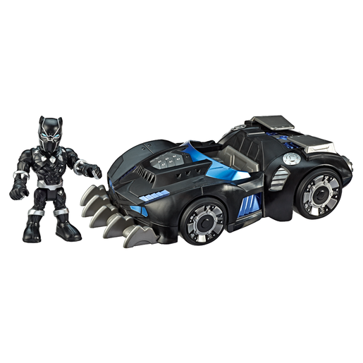 Playskool Marvel Super Hero Adventures Vehicle and Figure - Black Panther Road Racer