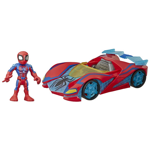 Playskool Marvel Super Hero Adventures Vehicle and Figure - Spider Man