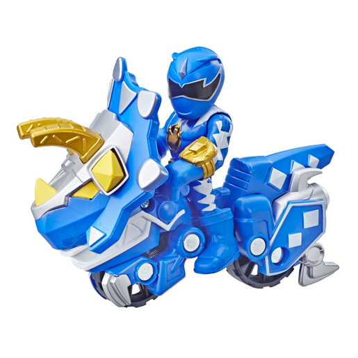Playskool Power Rangers Figures - Blue Ranger and Raptor Cycle