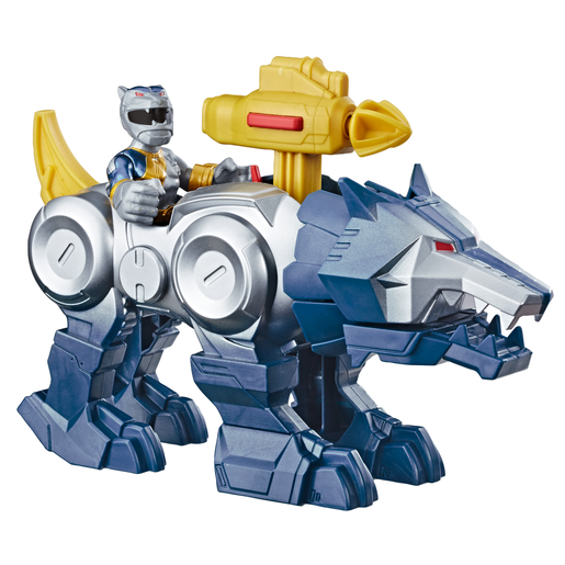 Playskool Heroes Power Rangers Ranger Figure - Silver Ranger and Wolf Zord