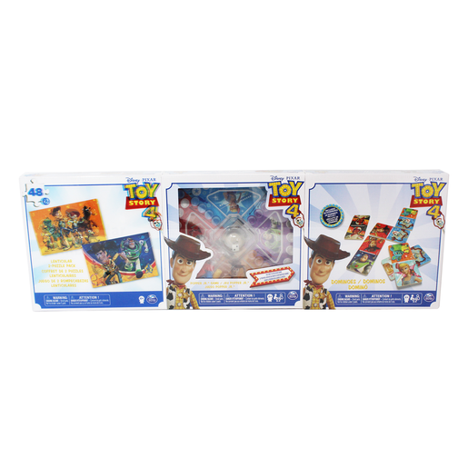Disney Pixar Toy Story Three Pack - 2 Puzzles, Popper Jr. Game and Dominoes
