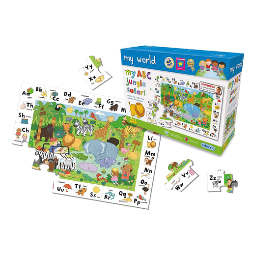 Gibsons My World My ABC Jungle Safari 30 Piece Puzzle