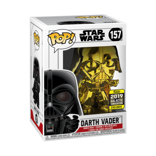 Funko Pop! Star Wars: Chrome Darth Vader - 2019 Galactic Convention