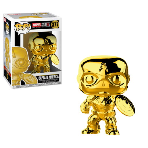 Funko Pop! Marvel: Captain America Chrome