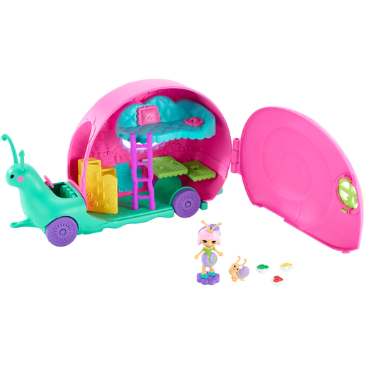 Encahntimals Slow-Mo Camper Vehicle Playset with Saxon Snail Doll