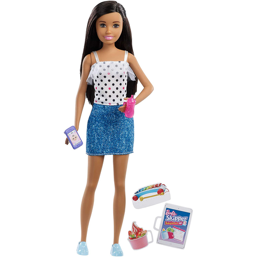 Barbie Skipper Babysitter Doll and Accessories - Brunette Hair