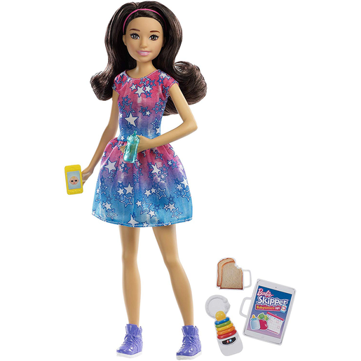 Barbie Skipper Babysitter Doll and Accessories - Dark Brown Hair